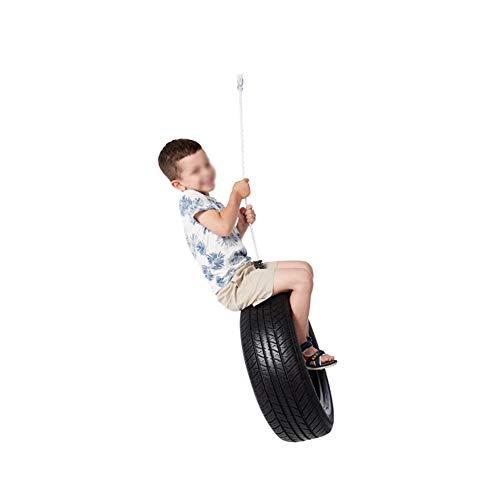 LHLCG Kinder Schaukel Garten Spiele Horizontal Rubber Reifen Schaukeln Sitz mit starken Seilen -