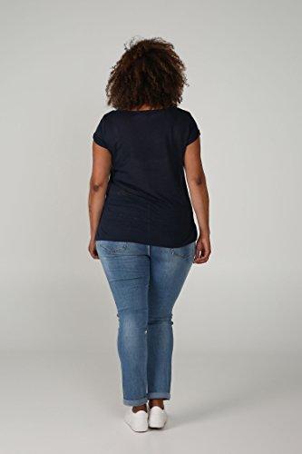 Paprika Damen große Größen T-Shirt mit einer Botschaft Marine