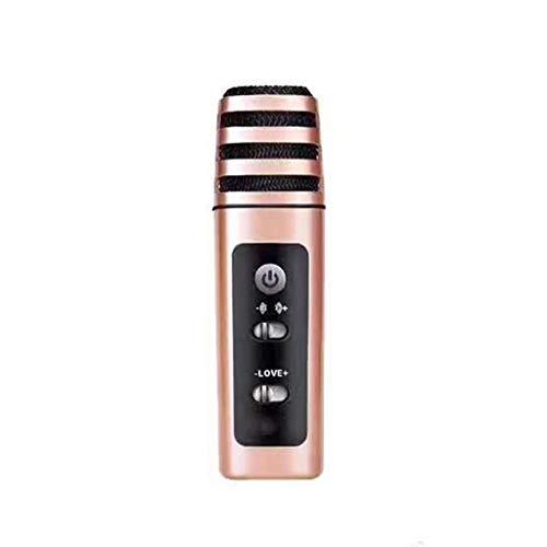 DUOER home Tragbare Handy Mikrofon, Kondensatormikrofon, Karaoke-Mikrofon Mikrofone (Color : Rose Gold)