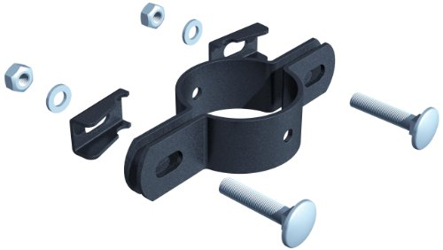 Preisvergleich Produktbild GAH-Alberts 563455 Doppelschelle, für Pfosten Ø 42 mm, anthrazit-metallic