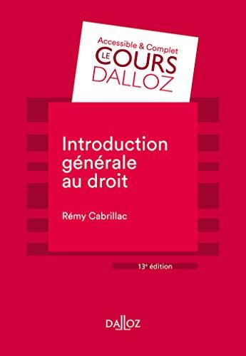Introduction générale au droit - 13e éd. par  Rémy Cabrillac