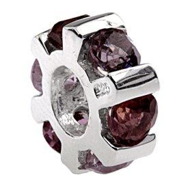 Silverado 'Cadre Lot de 6Pierre' argent Charm–SE fixe sur le Pandora Chamilia et bracelet troll