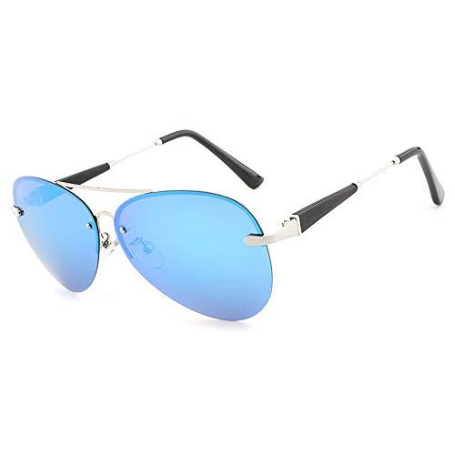 Herren Sonnenbrillen Brille Mode Männer Polarisierte Fahren Sonnenbrille Farbfilm Klassische Sonnenbrille LTJHJD (Color : Blau, Size : Kostenlos)