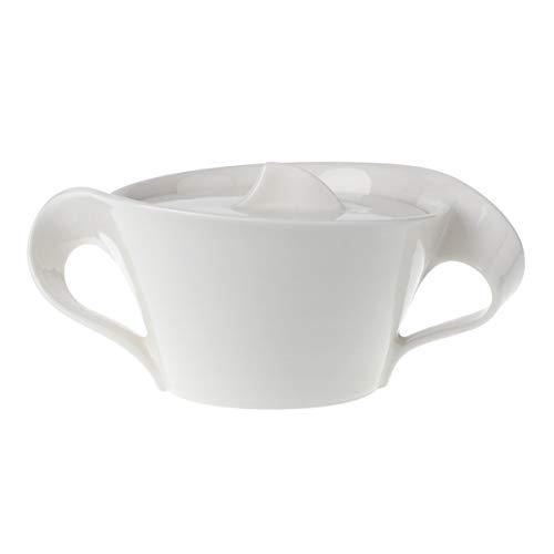 Villeroy & Boch NewWave Zucker-/Marmeladendose, Premium Porzellan, Weiß