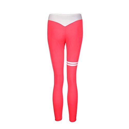 Femmes Sportswear,Tonwalk Maigre Femmes Workout Leggings Pantalon de yoga Fitness/Gym /Running Rose