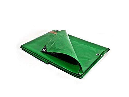 Bâches Direct Telone da esterni, impermeabile, per costruzioni, 250 g/m², 3 x 5 m, Verde