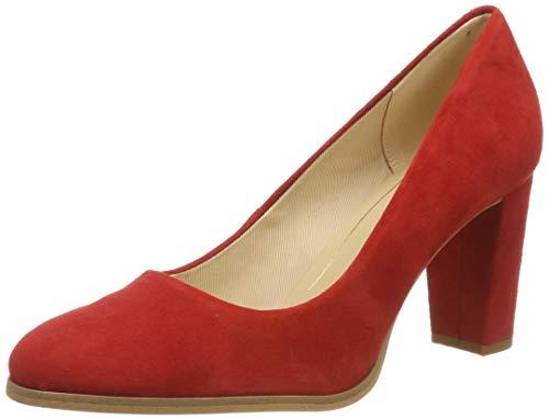 Clarks Kaylin Cara, Zapatos de Tacón para Mujer, Rojo Red Suede, 39 EU