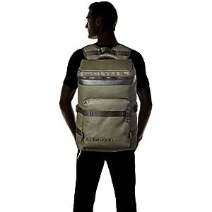 31vBVsDwqNL. SS300  - Calvin Klein Jeans - City Active Fashion Backpack, Mochilas Hombre, Gris (Grey/Rusted Brick), 17x52x32 cm (B x H T)