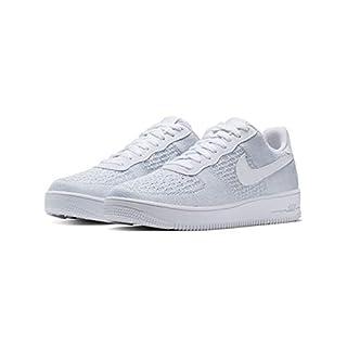 Nike Herren Air Force 1 Flyknit 2.0 Basketballschuhe, Mehrfarbig Pure Platinum/White 100, 43 EU
