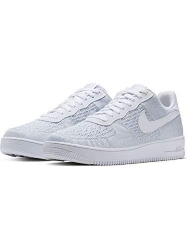 Nike Herren Air Force 1 Flyknit 2.0 Basketballschuhe, Mehrfarbig Pure Platinum/White 100, 42.5 EU
