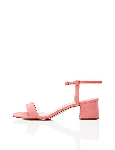 find. Block Heel Ankle Strap Peeptoe Sandalen, Orange Peach), 37 EU - Block-sandalen