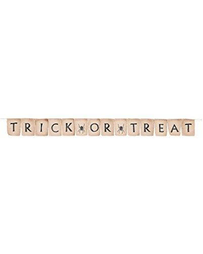 r aus Jute (Trick Or Treat-banner)