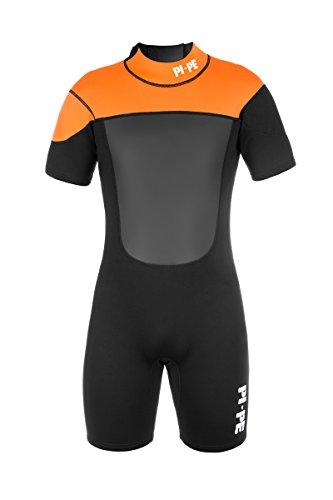 Active Spring Short Sleeve Neoprenanzug, orange/schwarz/grau - 3