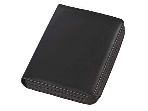 Terminplaner A5 Duo 2 Fächer Terminkalender schwarz mit Systemeinlage, Taschenrechner und Kalender 2019 (Taschenrechner Terminkalender)