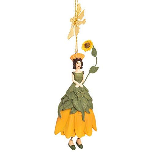 ROSEMARIE SCHULZ Heidelberg Sonnenblumen Blumen Mädchen zum Hängen Flower Fairy Figur Dekofigur Blumenfigur Skulptur Blumenkinder Blumenmädchen