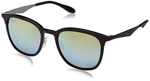 Ray-Ban Rayban Unisex-Erwachsene Sonnenbrille 4278 Black/Matte Brown/Greenmirrorsilvergradgold, 51