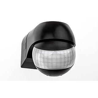 HUBER MOTION 3 slim, Bewegungsmelder 180°, schwarz, horizontal und vertikal einstellbar, energieeffizient