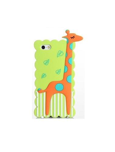 "BACK CASE 3D GIRAFFE für Apple iPhone 6 4,7"" Apple iPhone 6S Hülle Cover Case Schutzhülle Tasche (weiß) grün"