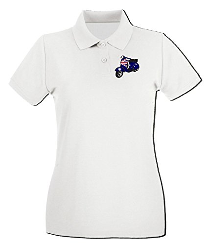 T-Shirtshock - Polo Donna WC0200 Australian Flag decal scooter, Taglia S