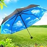 Anti UV Sun Protection Umbrella Blue Sky...