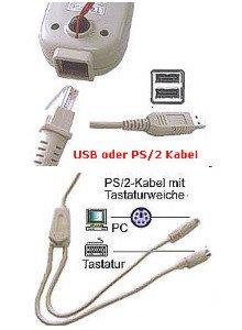 Pro-Line USB Hand-Barcode-Scanner CCD 82mm Handgerät, 100 Scan/Sek. in beige, von AllOfBarcode - 5