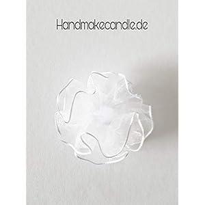 Tropfschutz Weiß/Tropfenfänger Weiß/für Taufkerze oder Kommunionkerze/passend für Kerzen mit einen 3-5 cm Durchmesser