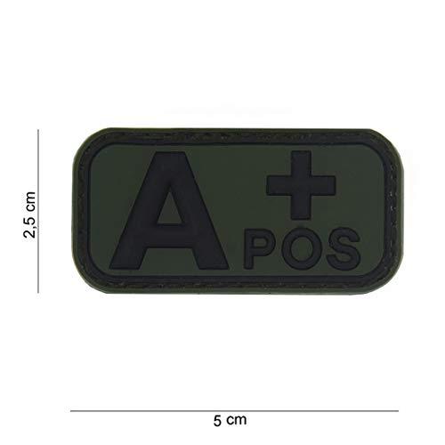 Tactical Attack Blood Type A+ Positive grün Softair Sniper PVC Patch Logo Klett inkl gegenseite zum aufnähen Paintball Airsoft Abzeichen Fun Outdoor Freizeit - Blood Type Patches
