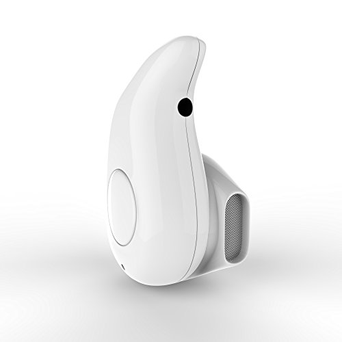 shenzoo® Bluetooth In Ear Headset Mini für iOS und Android in weiss