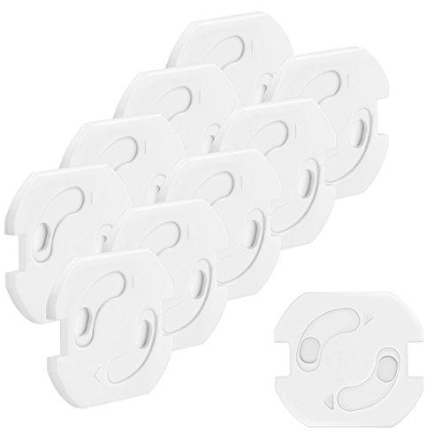 mumbi 10er Set Kindersicherung für Steckdosen - Steckdosenschutz mit Drehmechanik