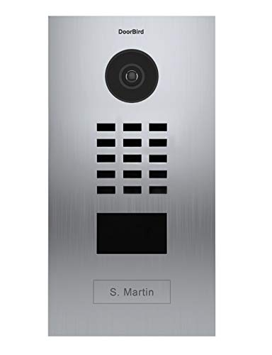 Door Bird D2101V Video-Türsprechanlage, IP mit RFID-1, Türklingel INOX-Doorbird