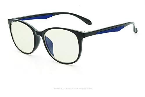 Delilya Blue Light Blocking Computer Brille Anti Blue Ray Square Brillen reduzieren die Belastung der Augen für Frauen Männer,Black