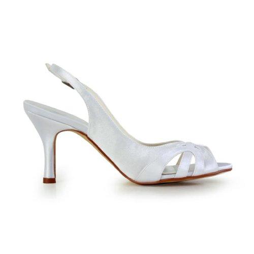 Jia Jia Wedding A31B20 Scarpe Sposa Scarpe col tacco donna Bianco