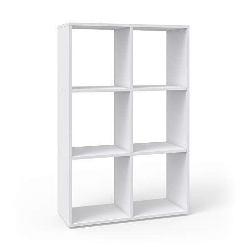 Vicco Raumteiler 6 Fächer weiß Bücherregal Standregal Aktenregal Hochregal Aufbewahrung Regal