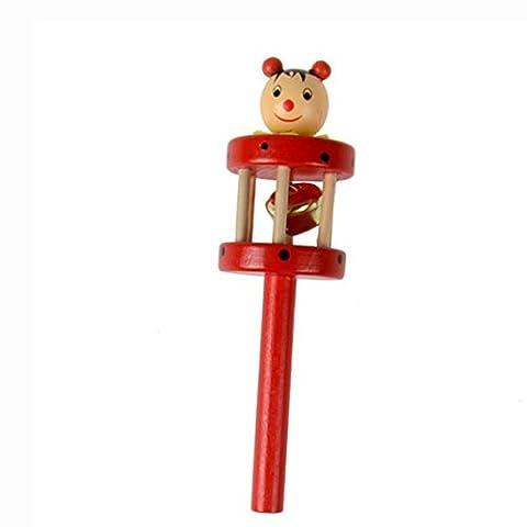 Transer® Toys for Kids- Musical Animal Wooden Handbell- Baby Instrument