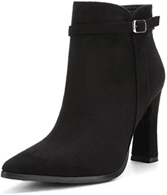 Botas Martin Botas cortas estilo Británico Botas de mujer botas Botas de tacón grueso Botas de tacón alto