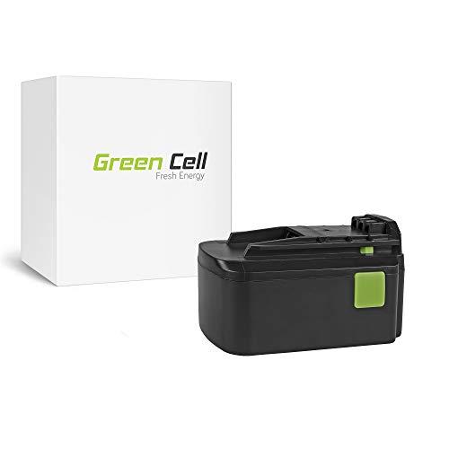 GC® 5Ah 18V Li-Ion Panasonic Celdas Batería para Festool PSBC 400 de Herramienta Eléctrica