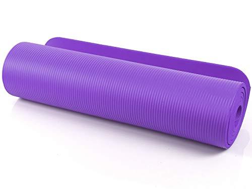 SeMa Sports & Outdoor - Tappetino extra morbido per yoga, pilates e ginnastica, 183 x 60 cm, spessore: 1 cm, Violett