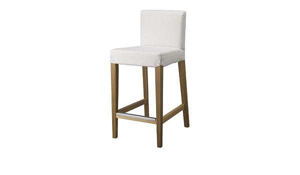 Ikea henriksdal sgabello da bar con schienale in legno di rovere