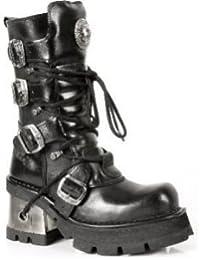 New Rock Damen NEWROCK 3 Leder Fuß Stiefel