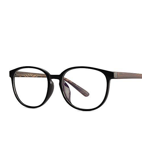 P-WEIAN Brillenflachenspiegel retro Brillengestell Holz Spiegel Beine Mode Brillengestell Unisex