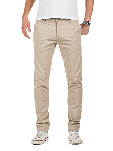 Yazubi Herren Chino Hose, Modell Dustin, Chinohose by Yzb Jeans, Beige (Plaza Taupe 161105), W33/L34