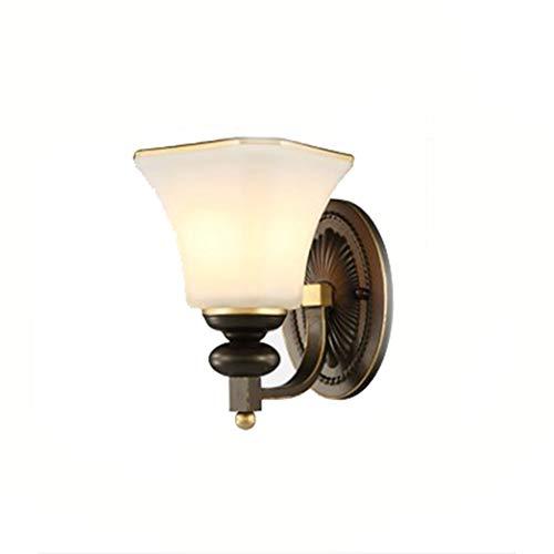 Bronze Bad Leuchte (Vintage-Stil Wandleuchte, Öl eingerieben Bronze Industrie Bad Eitelkeit Leuchte moderne Wandleuchten einfache kreative Schlafzimmer Studie Wand LED-Lampe)