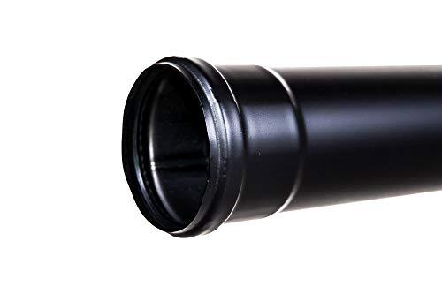 Tuyau de cheminée en acier inoxydable prélaqué noir L 250 mm