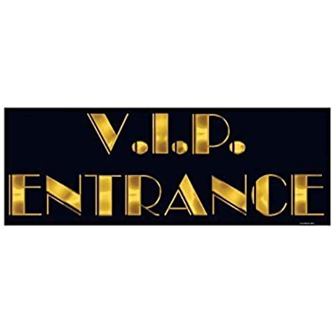 Hollywood Party VIP Entrance Cut Out Sign by Struts Fancy Dress