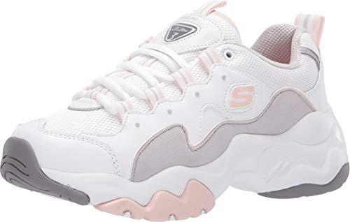Skechers sneakers d'lites 3.0 zenway bianco grigio rosa 12955-wgpk (40 - bianco)