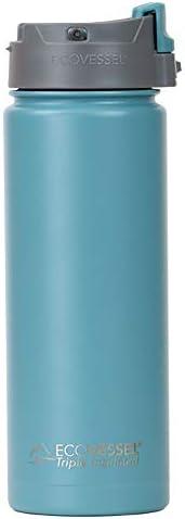 EcoVessel Perk - Bottiglia da viaggio in acciaio inox per caffè e tè, con chiusura a pulsante, 567 ml, colore: