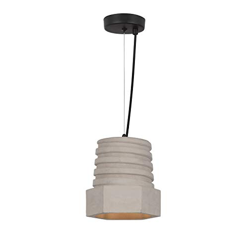 Lampe Suspendue Ross Ciment LEDKIA