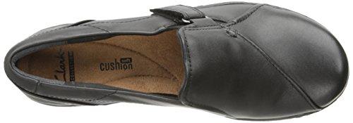 Clarks Evianna Facilità piatto Black Smooth Leather