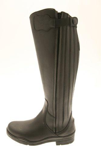 New Norfolk Wide Bottes d'équitation en cuir noir - Noir