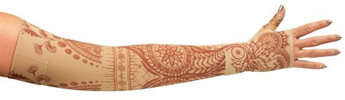 lymphedivas-arm-sleeve-class-1-small-regular-with-diva-diamond-band-bodhi-beige-by-lymphedivas